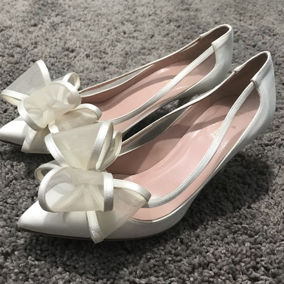 81c6a706203 kate spade Shoes - Kate Spade Ivory Jackie Heels with Bow